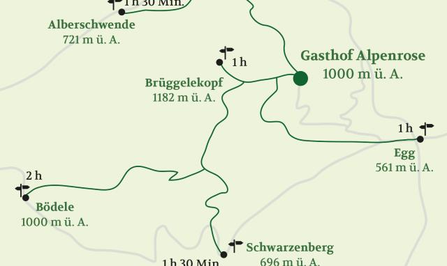 Karte Gasthof Alpenrose